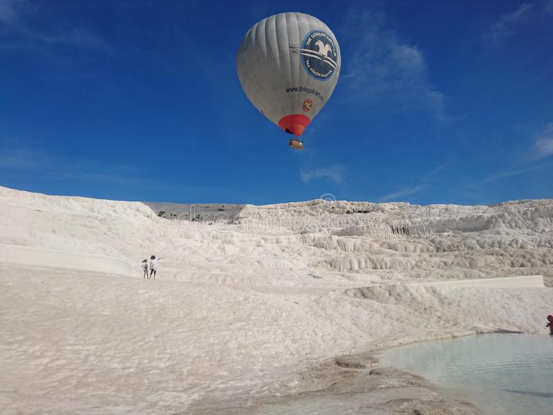 The Pamukkale royalty free stock photography