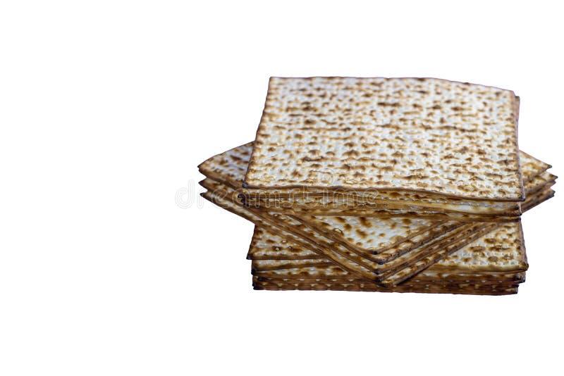 Pan ?cimo de la pascua jud?a tradicional jud?a del Matzah S?mbolo de la celebraci?n de Pesach Imagen aislada fotos de archivo libres de regalías