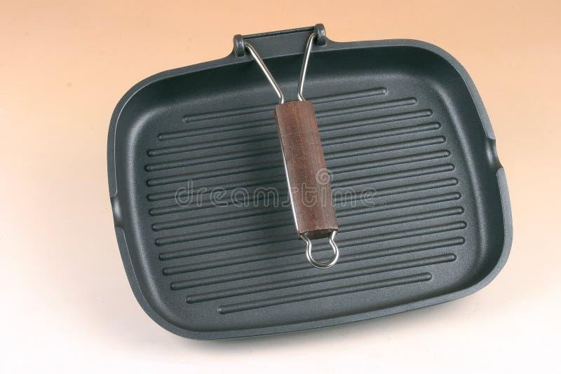 Pan. Kitchen iron pan for grill royalty free stock photo