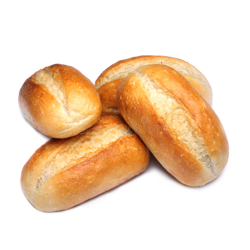 Pan aislado en blanco foto de archivo