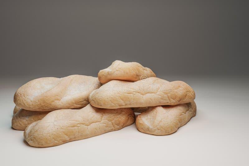 Pan aislado sobre fondo blanco fotografía de archivo libre de regalías