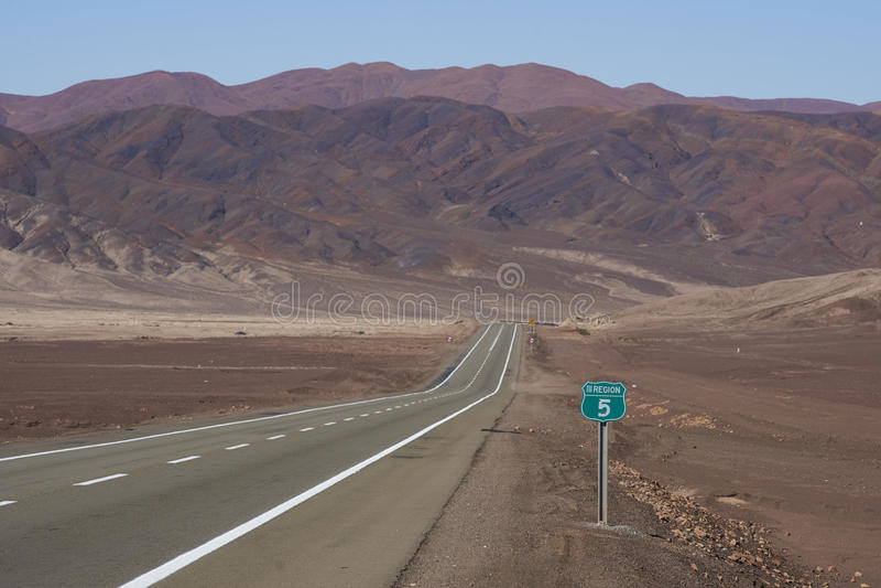 Pan American Highway, o Chile imagem de stock