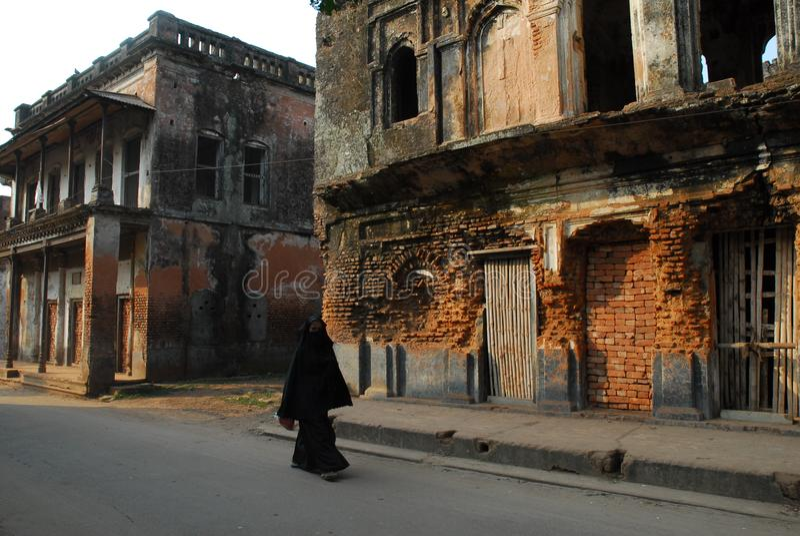 Pan- Amstadt wird bei Sonargaon, Narayanganj in Bangladesch aufgestellt lizenzfreie stockbilder
