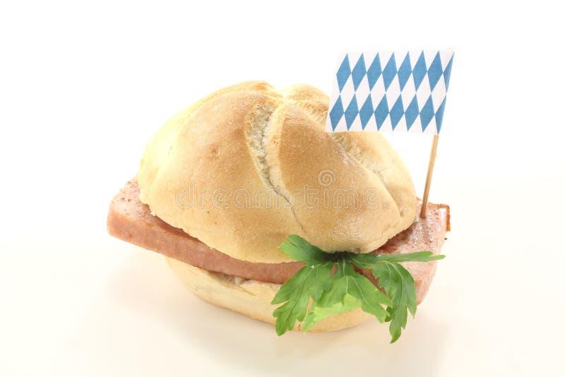 Pan bávaro de la carne de vaca y del cerdo foto de archivo libre de regalías