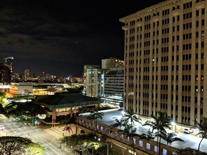 Pan Am Building på natten arkivbild