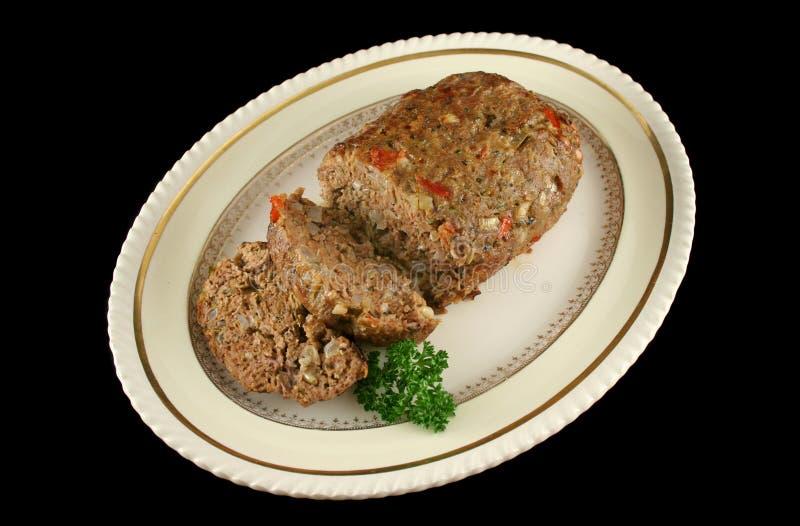 Pan con carne 1 del cordero fotografía de archivo