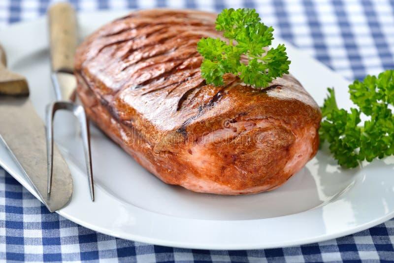 Pan con carne bávaro imagenes de archivo