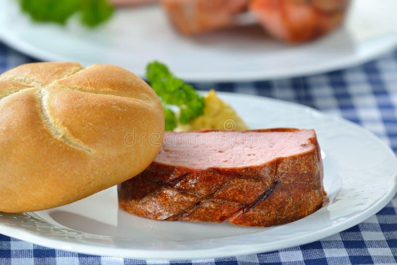 Pan con carne bávaro fotografía de archivo