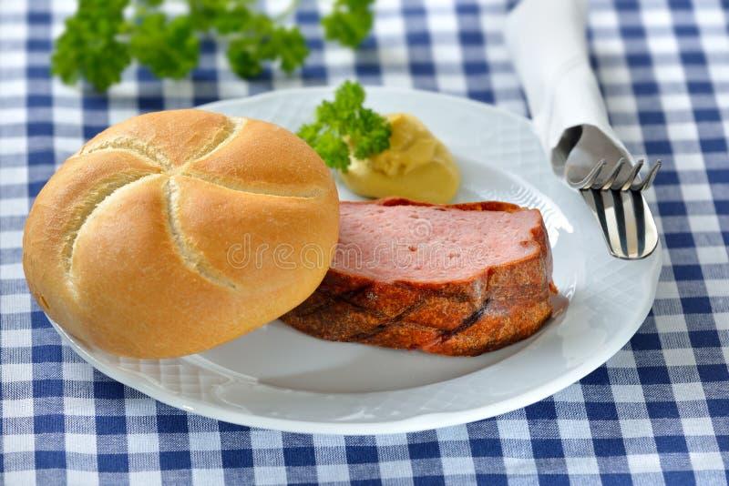 Pan con carne bávaro fotos de archivo