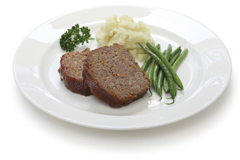 Pan con carne clásico foto de archivo
