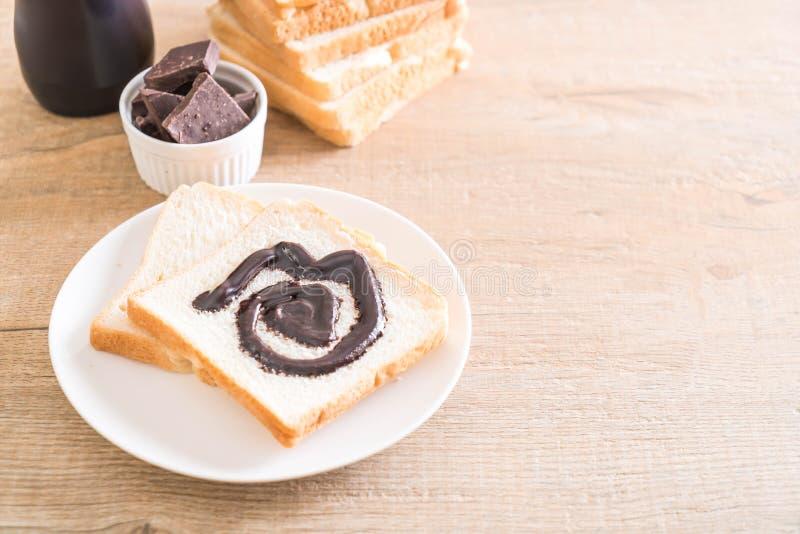 Pan con el chocolate imágenes de archivo libres de regalías