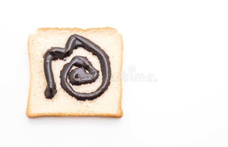 Pan con el chocolate imagenes de archivo