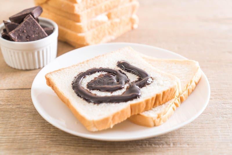 Pan con el chocolate foto de archivo