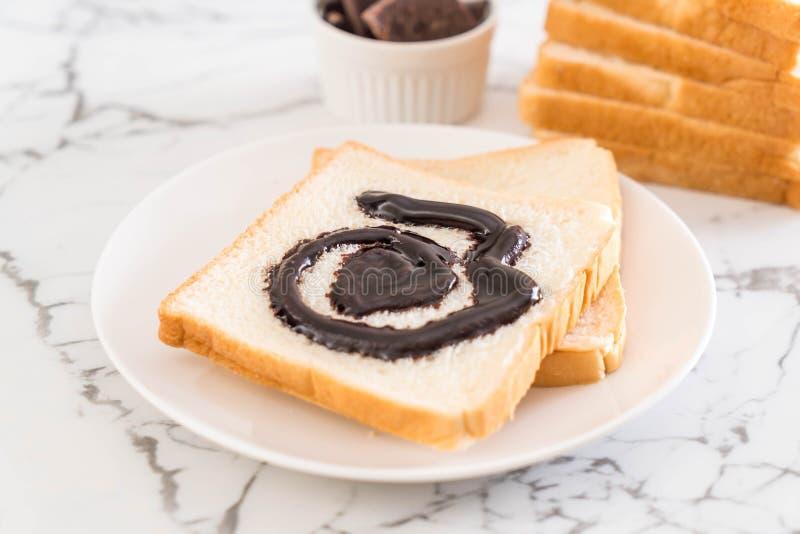 Pan con el chocolate imagen de archivo