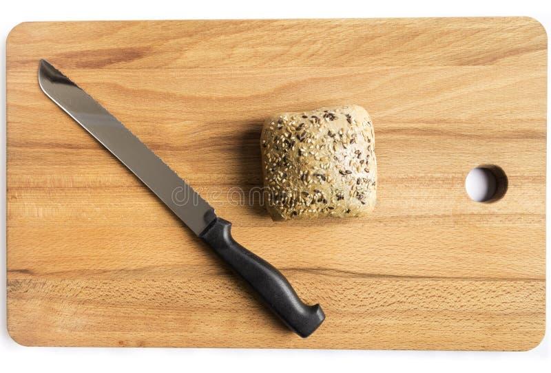 Pan con linaza, avena y semillas de sésamo foto de archivo libre de regalías