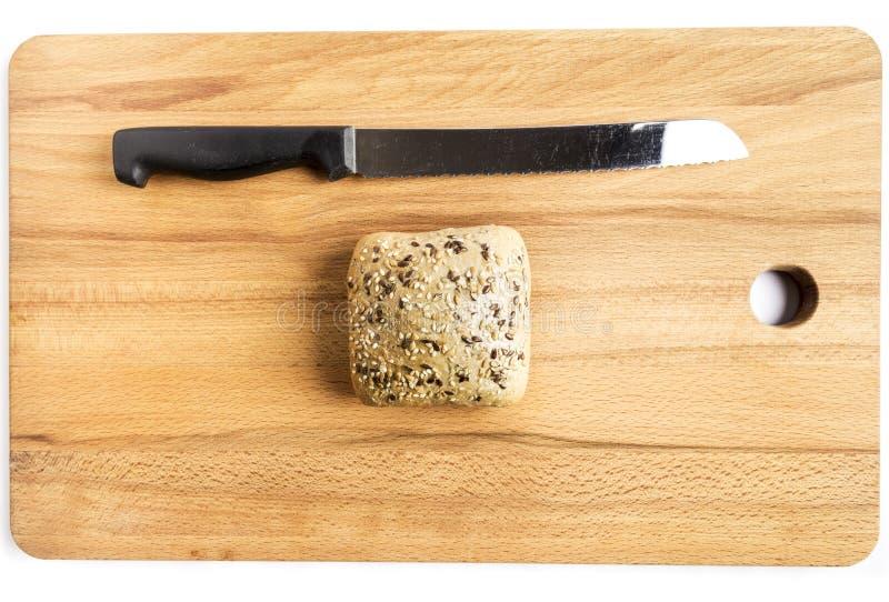 Pan con linaza, avena y semillas de sésamo imagenes de archivo