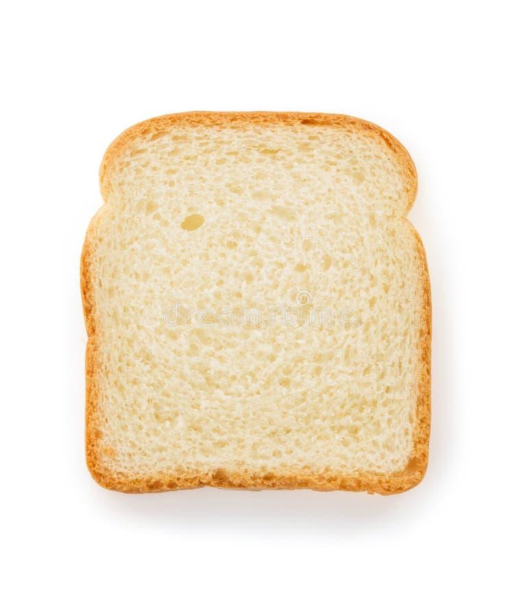 Pan cortado en blanco imagen de archivo