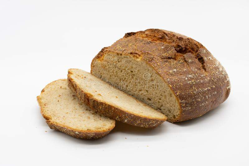 Pan curruscante fresco del panadero imagenes de archivo
