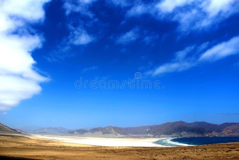 Pan de Azucar παραλία Χιλή στοκ εικόνα