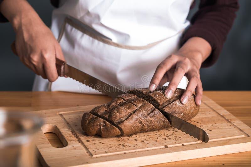 Pan de centeno hecho en casa foto de archivo
