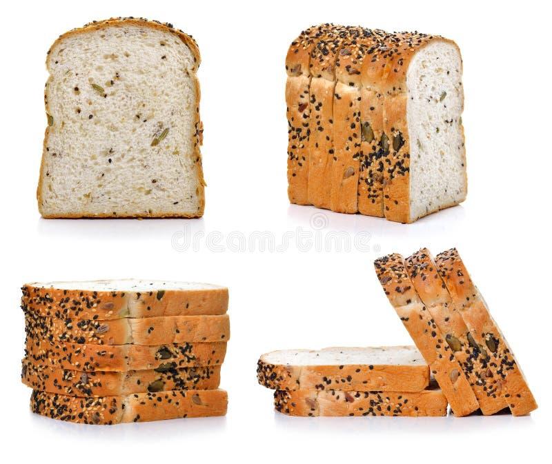 Pan de centeno integral con el salvado y las semillas, consumición sana fotografía de archivo