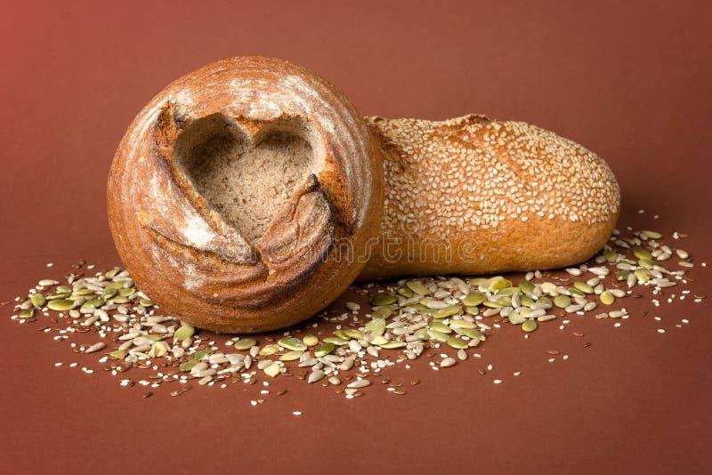 Pan de Healty Brown foto de archivo libre de regalías