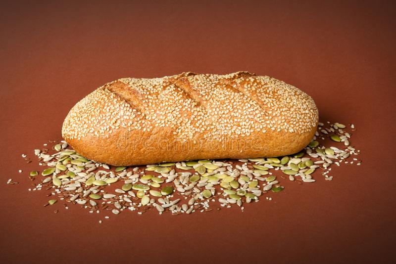 Pan de Healty Brown foto de archivo