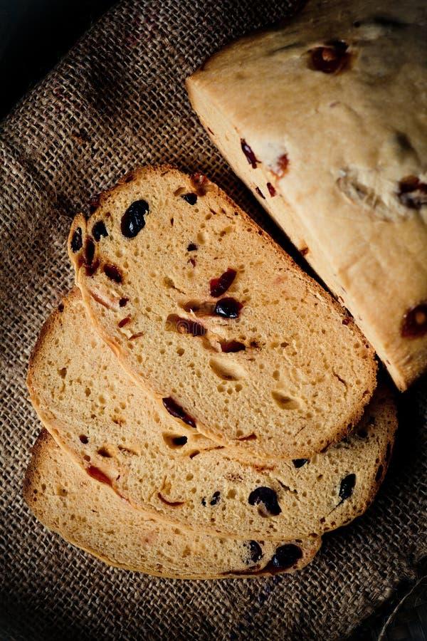 Pan de Hokkaido del arándano del caramelo imágenes de archivo libres de regalías