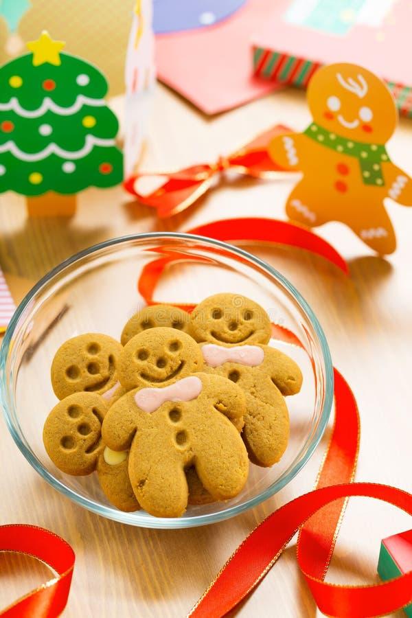 Pan de jengibre para la Navidad imagen de archivo