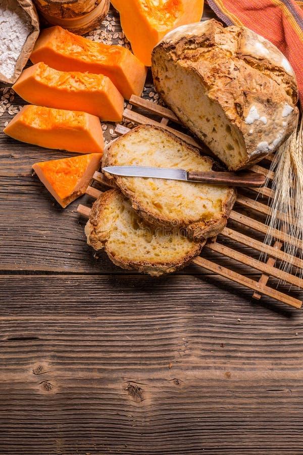 Pan de la calabaza foto de archivo