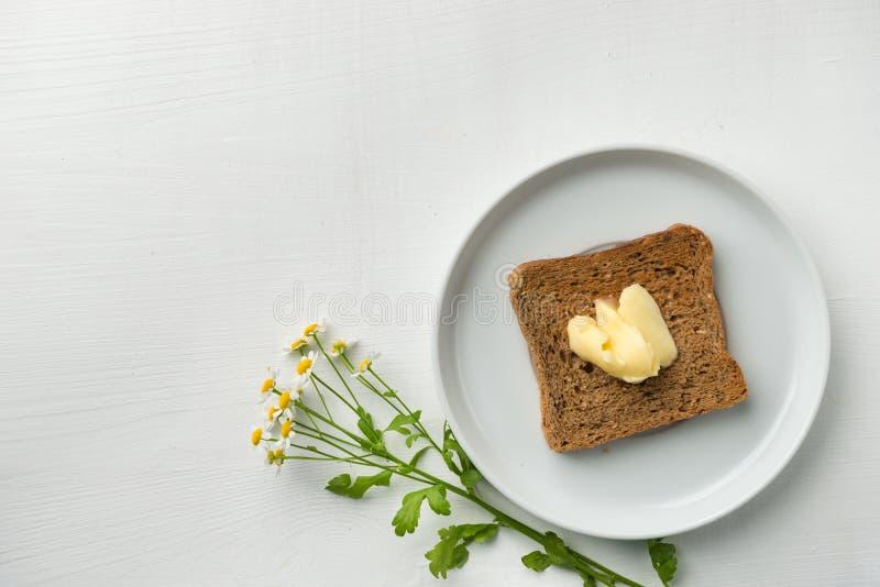 Pan de la mantequilla para el desayuno imágenes de archivo libres de regalías