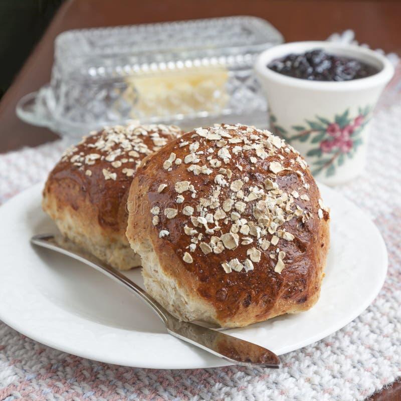 Pan de la melaza de la harina de avena fotografía de archivo