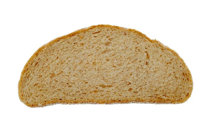 Pan de la rebanada en el fondo blanco imagen de archivo