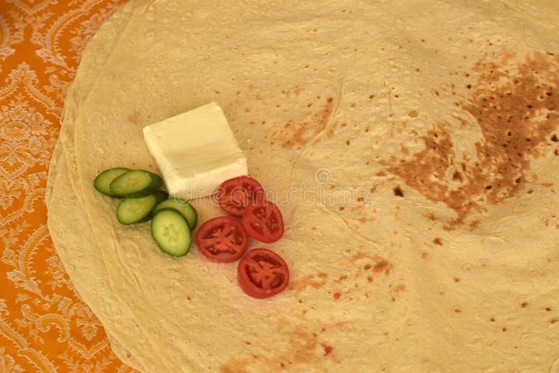 Pan de Lavash, Flatbread blanco iraní imagen de archivo