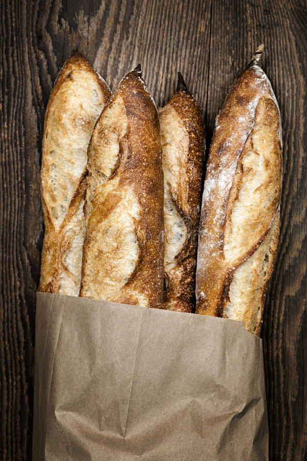Pan de los Baguettes imagenes de archivo