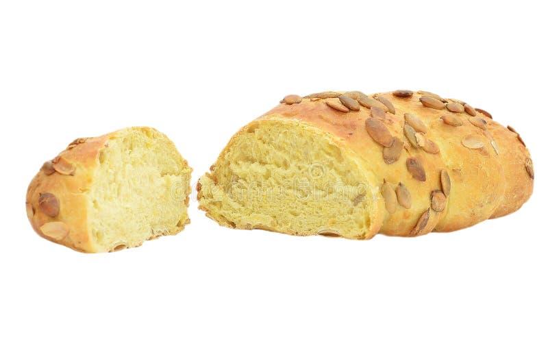 Pan de maíz con los gérmenes de calabaza imágenes de archivo libres de regalías