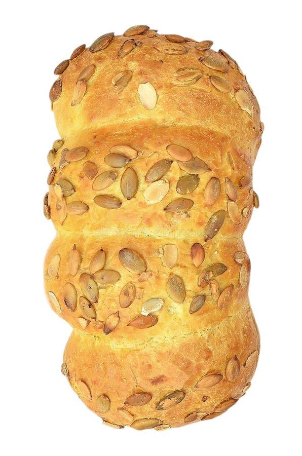 Pan de maíz con los gérmenes de calabaza imagenes de archivo