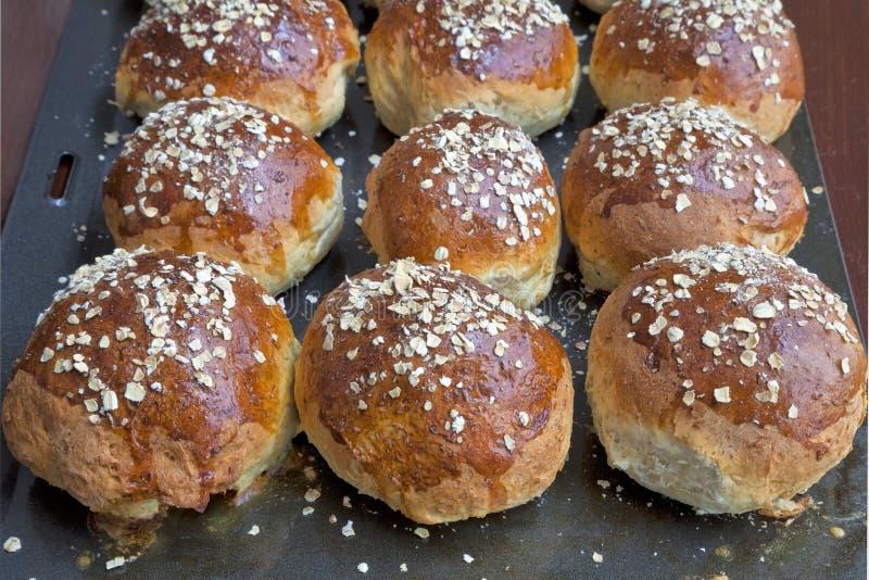 Pan de Molassas de la harina de avena fotos de archivo