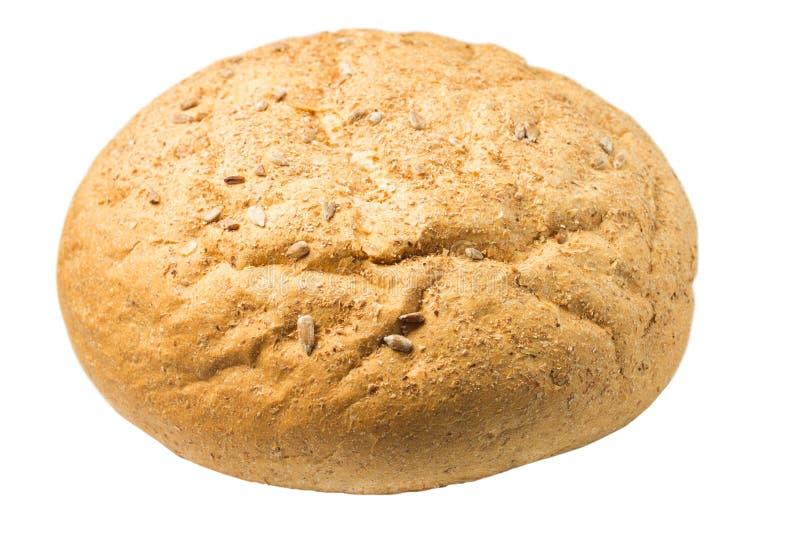 Pan de Rye aislado en el fondo blanco fotografía de archivo