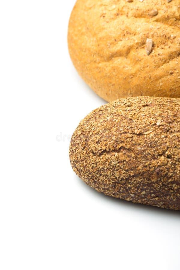 Pan de Rye aislado en el fondo blanco imágenes de archivo libres de regalías