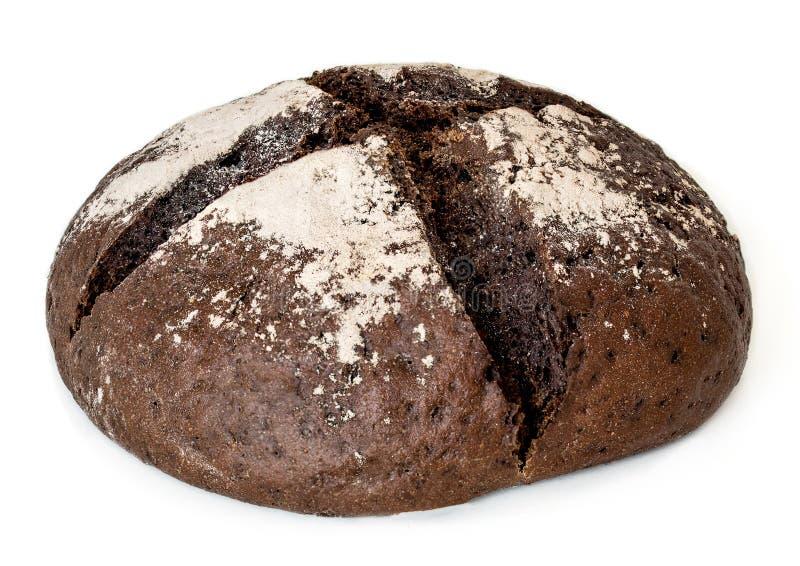 Pan de Rye recientemente cocido aislado en el fondo blanco, visión superior imágenes de archivo libres de regalías