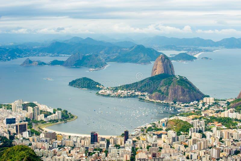 Pan de Suggar de Corcovado - Rio de Janeiro, el Brasil imagenes de archivo