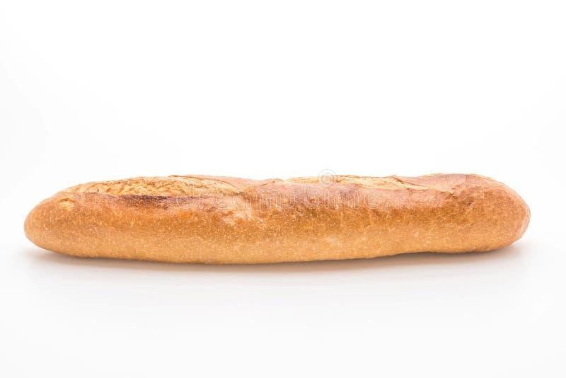 Pan del Baguette en el fondo blanco imagen de archivo