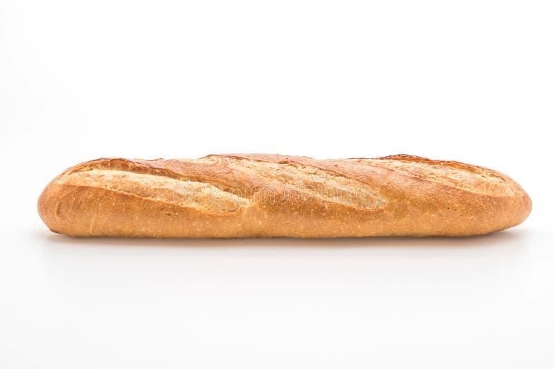 Pan del Baguette en el fondo blanco fotografía de archivo