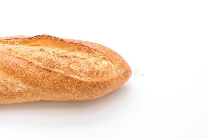 Pan del Baguette en el fondo blanco foto de archivo