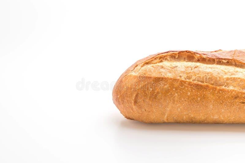 Pan del Baguette en el fondo blanco imágenes de archivo libres de regalías