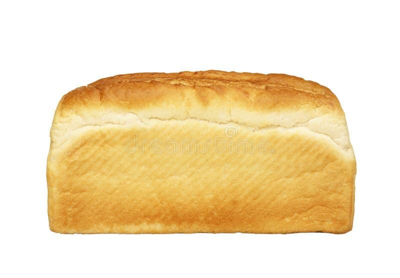 Pan del pan blanco en el fondo blanco imágenes de archivo libres de regalías
