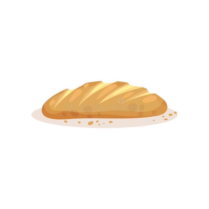 Pan del pan, ejemplo fresco del vector del producto de los pasteles de la panadería en un fondo blanco libre illustration