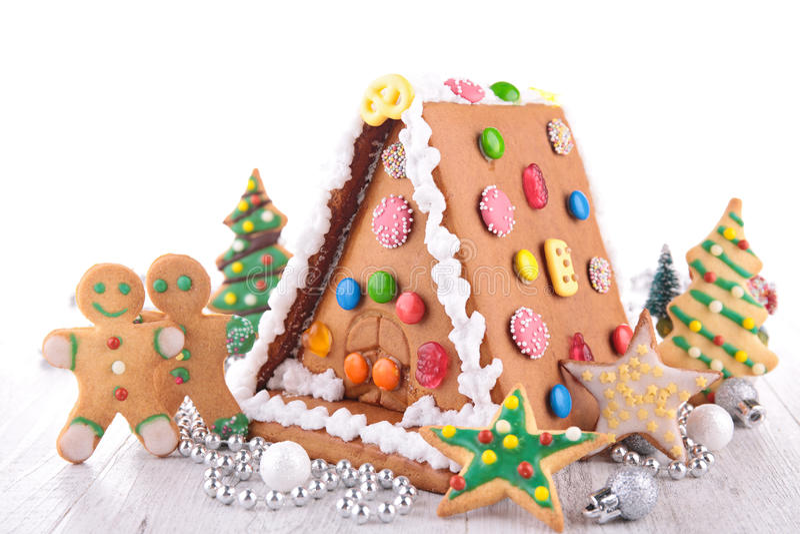 Pan del jengibre de la Navidad imagen de archivo libre de regalías
