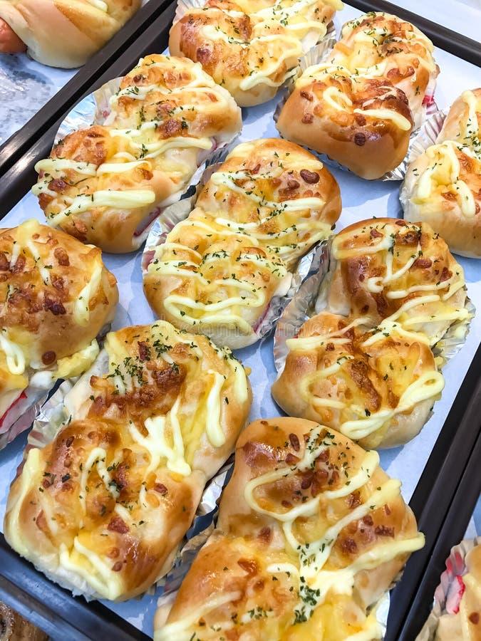 Pan del palillo del cangrejo en la tienda de la panadería fotos de archivo libres de regalías